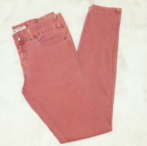 Free People   Salmon Skinny Leg Jean SZ 27